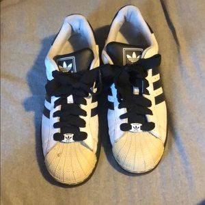 Adidas shell toe men's black & white